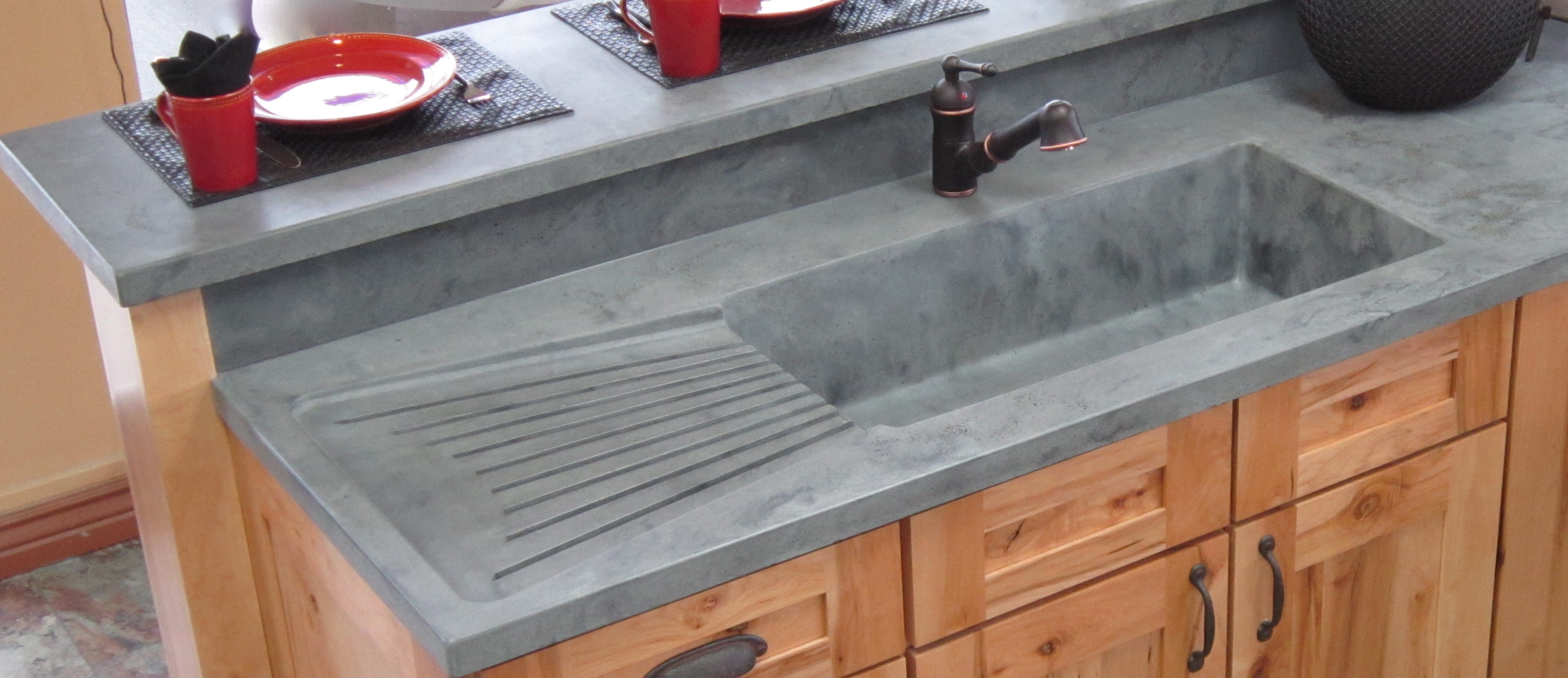 INTEGRATED KITCHENS SINKS U0026 DRAINBOARDS « McGregor Designs U2013 Decorative  High Performance Concrete